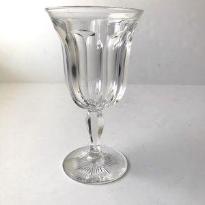 "Vintage Hawkes "" Colonial"" Crystal Wine Goblet"